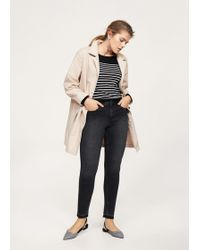 Violeta by Mango - Dark Grey Slim-fit Jeans - Lyst