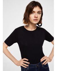 Mango - Basic T-shirt - Lyst
