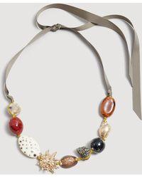 Mango - Shells Bead Necklace - Lyst