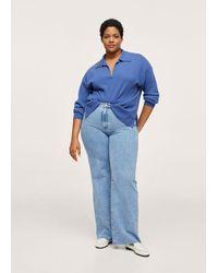 Violeta by Mango Pullover 100% cashmere - Blu