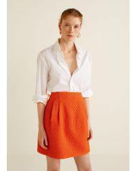 Mango - Tweed Skirt - Lyst