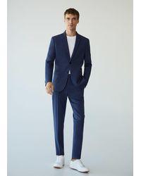 Mango Super Slim-fit Suit Blazer - Blue