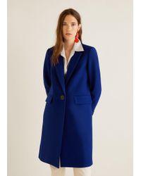 Mango - Structured Wool Coat - Lyst