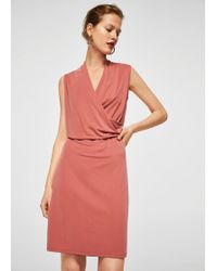 Mango - Ruched Detail Dress - Lyst