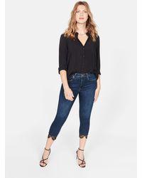 Violeta by Mango - Lace Super Slim Jeans - Lyst