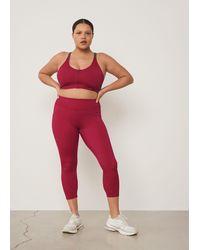 Violeta by Mango Sporty leggings - Red