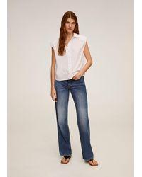 Mango - Shoulder Pad Shirt - Lyst
