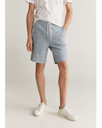 Mango Flecked jogger Pants Gray