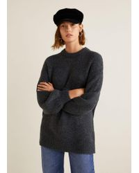 Mango - Long Knit Jumper - Lyst