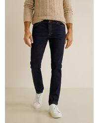 Mango - Slim-fit Dark Wash Tim Jeans - Lyst
