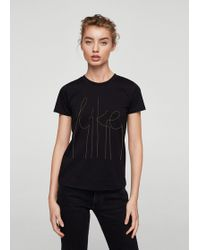Mango - Decorative Chain T-shirt - Lyst