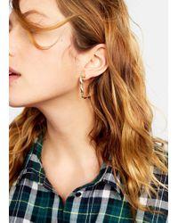 Violeta by Mango - Embossed Earring - Lyst