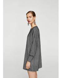 Mango - Houndstooth Dress - Lyst