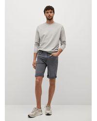 Mango Dark Gray Denim Shorts