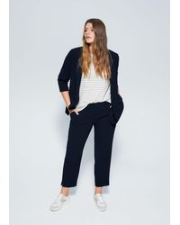 Violeta by Mango Relaxed Fit Suit Blazer - Blue