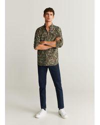 Mango - Slim-fit Printed Cotton Shirt - Lyst
