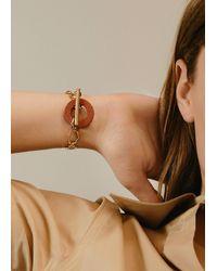 Mango Terracotta Detail Bracelet Burnt Orange