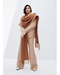 Mango Recycled Polyester Scarf - Brown