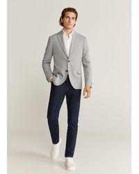 Mango - Slim-fit Textured Blazer - Lyst