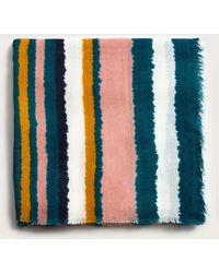 Violeta by Mango - Multicolor Striped Scarf - Lyst