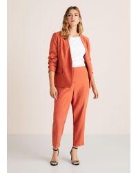 Violeta by Mango - Flowy Straight-fit Trousers - Lyst