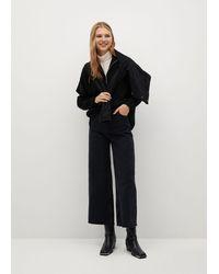 Mango Jeans Culotte High Waist - Black