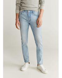 Mango Skinny Light Wash Jude Jeans - Blue