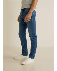 Mango - Slim Fit Medium Wash Tim Jeans - Lyst