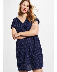 Violeta by Mango - Printed Cotton Dress - Lyst