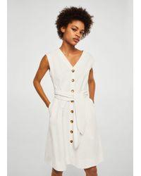 Mango - Bow Cotton Dress - Lyst