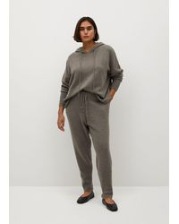 Violeta by Mango - Knit jogger-style Trousers - Lyst