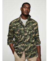 Mango - Camouflage Cotton Jacket - Lyst