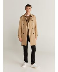 Mango Water-repellent Cotton Trench - Brown