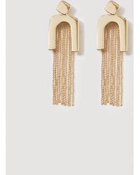 Mango - Slim Chain Earring - Lyst
