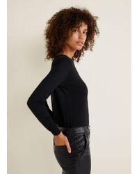Mango - Fine-knit Cotton Jumper - Lyst