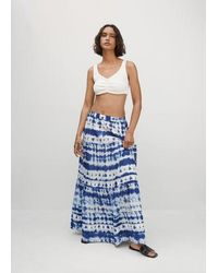 Mango - Jupe coton tie and dye - Lyst