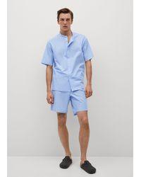 Mango Pyjama Shorts - Blue