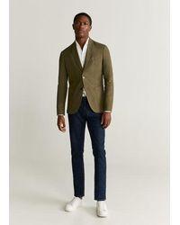 Mango - Slim fit-blazer aus 100 % leinen - Lyst