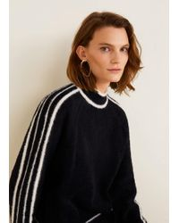 Mango - Contrasting Stripes Sweater - Lyst