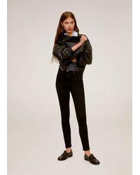 Mango Noa High-waist Skinny Jeans - Zwart