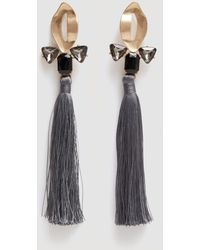 Mango - Micro Beads Tassel Earrings - Lyst