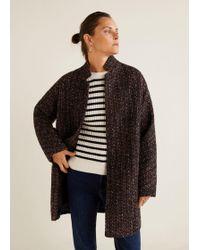 Mango - Flecked Wool-blend Coat - Lyst