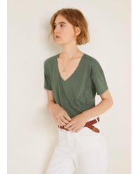 Mango - V-neckline Essential T-shirt - Lyst