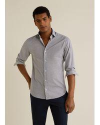 Mango - Slim-fit Mosaic Print Shirt - Lyst