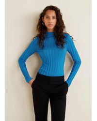 Mango - Turtleneck Ribbed Sweater - Lyst