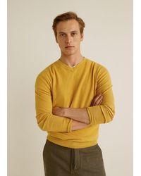 Mango - Structure Cashmere Cotton Sweater - Lyst