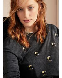 Violeta by Mango - Embroidered Details Sweater - Lyst