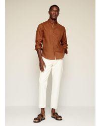 Mango 100% Linen Slim-fit Shirt - Multicolor