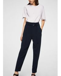 Mango | Detachable Belt Trousers | Lyst