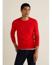 Mango - Striped Structure Sweater - Lyst
